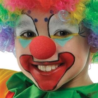 Girl clown nose